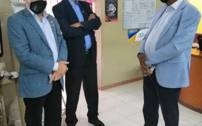 Visite de M. Albert Camille Vital et M. Alain Laridon à la GRF