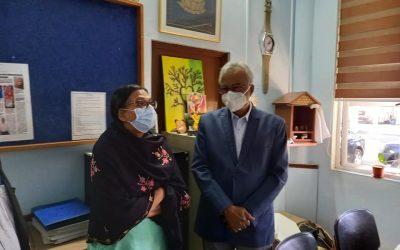 Mme Rita Venkatasawmy a visité le bureau de la Global Rainbow Foundation à Petit Raffray