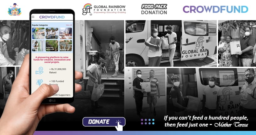 The Global Rainbow Foundation has launched a fundraising campaign on crowdfund.mu to distribute food packs