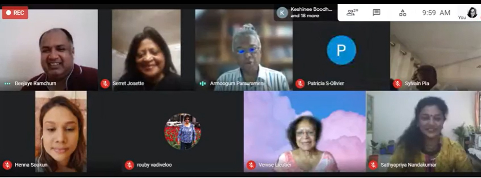 World Laughter Day: On Sunday 2th May 2021, a webinar was organised with speaker Mrs. Sathyapriya and Guest Speaker Mr. Maurice D'Arifat
